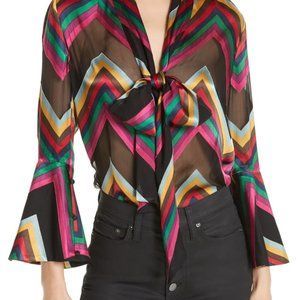 Alice + Olivia size S blouse new with defects